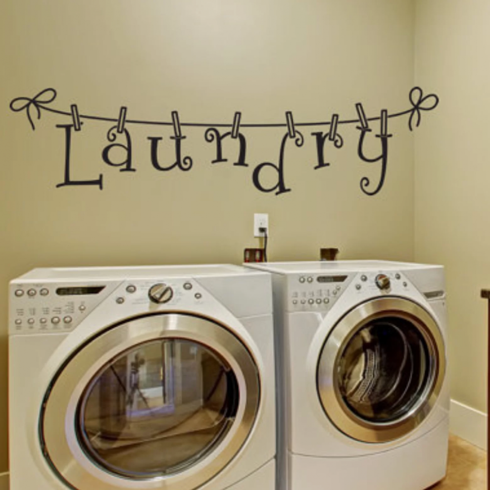 Laundry Room Decal in 10 | Laundry room decals, Wall decals ..
