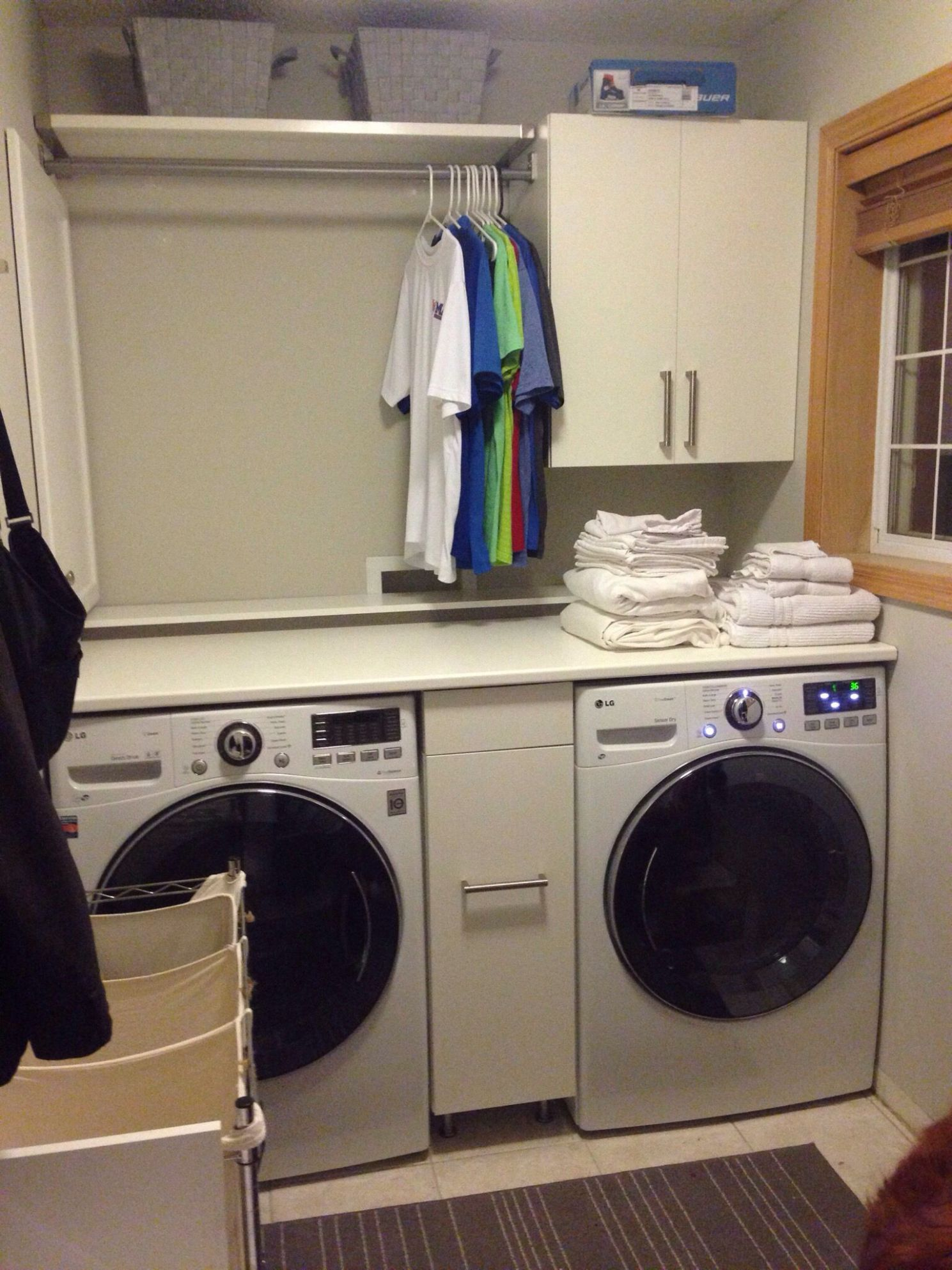 Laundry Room IKEA Hack | Laundry room countertop, Laundry room ..