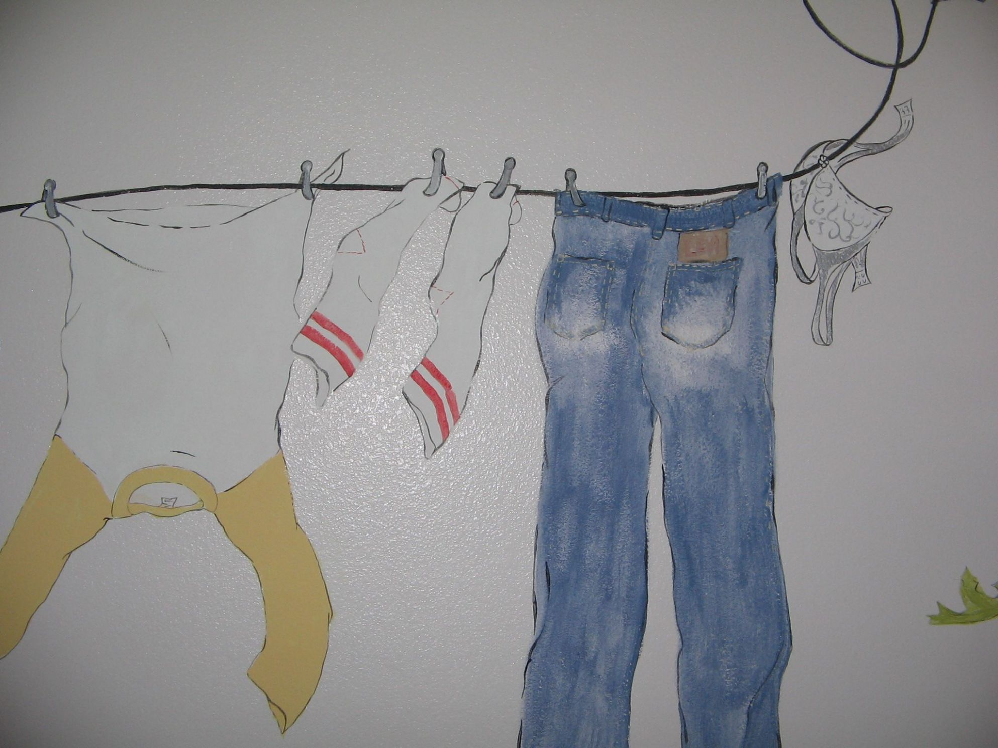 Laundry Room Mural by Jamie Jowsey (With images)   Mural, Clothes ..