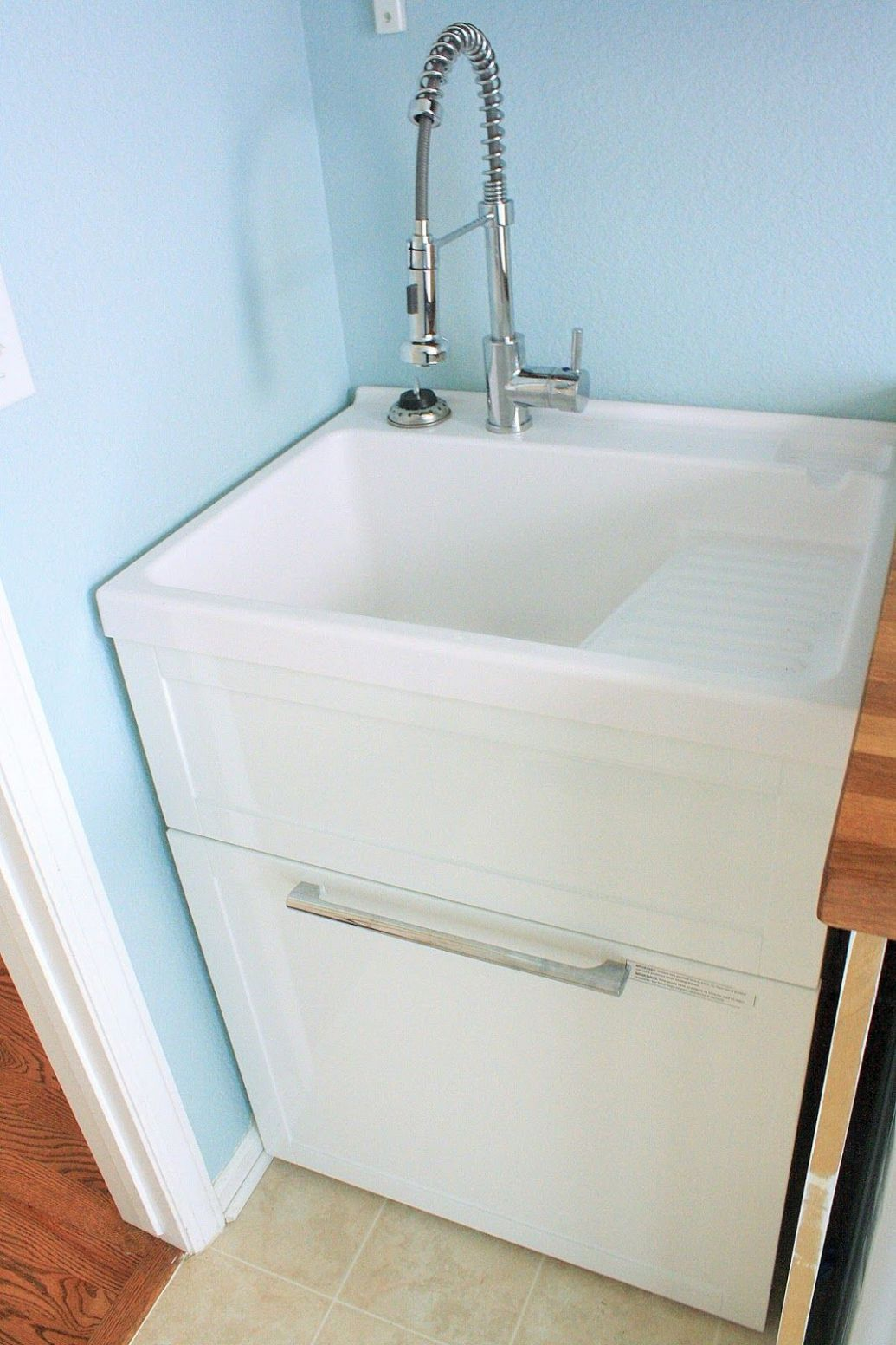 Laundry Room Reveal (finally!) | Laundry room utility sink ...