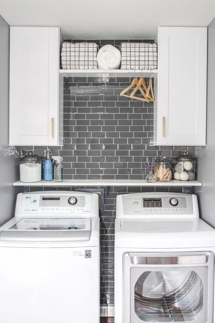 Laundry Room Update with Peel and Stick Tile Backsplash (With ..