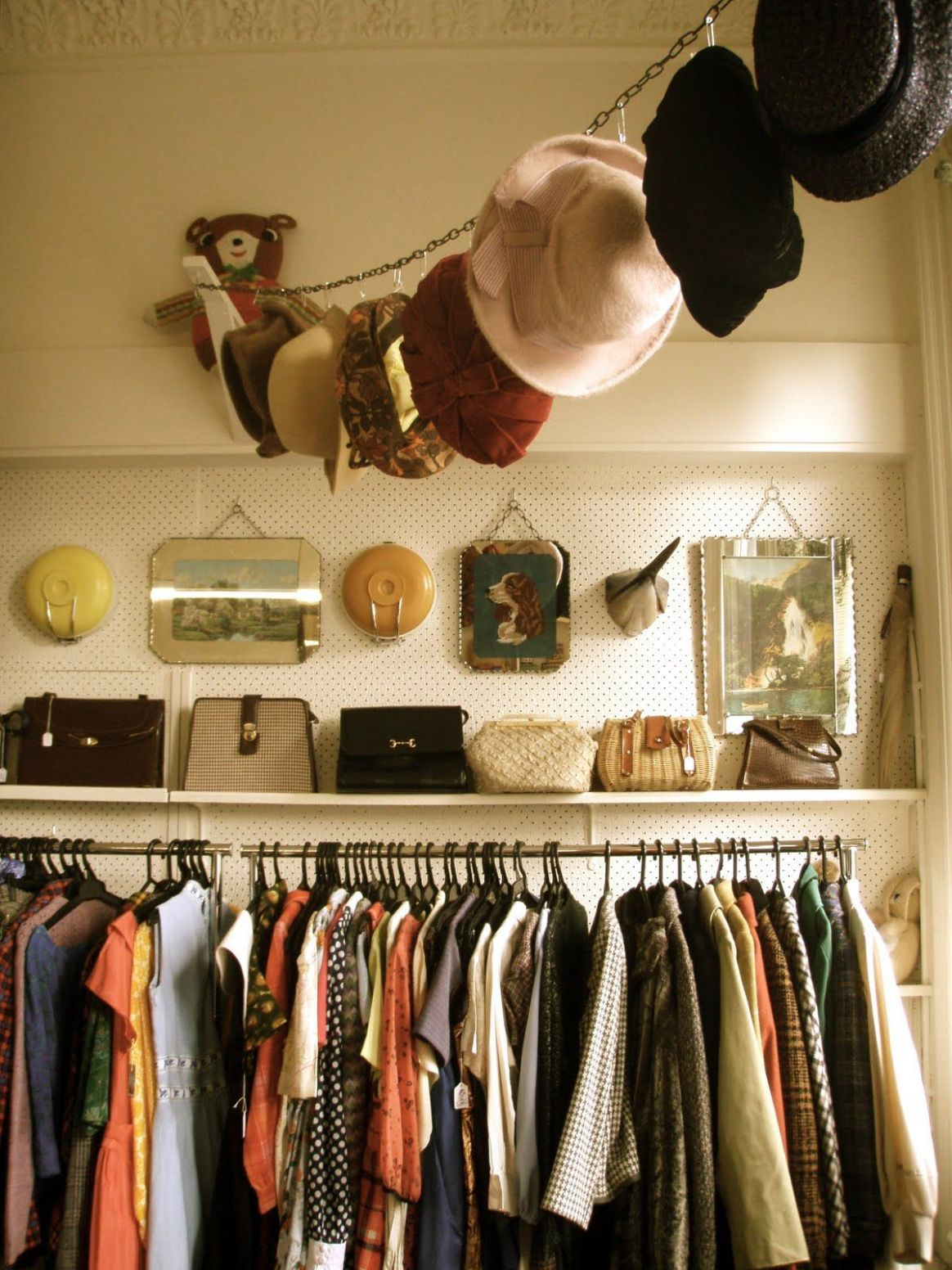 Learn to Love Your Closet, Big or Small - closet hook ideas