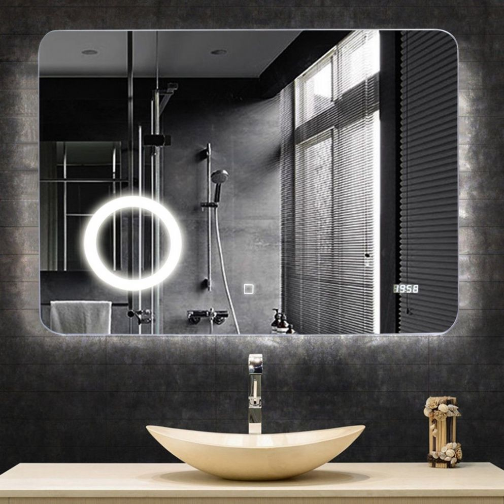 LED Touch Button Wall-Mounted Makeup Mirror – Glicha