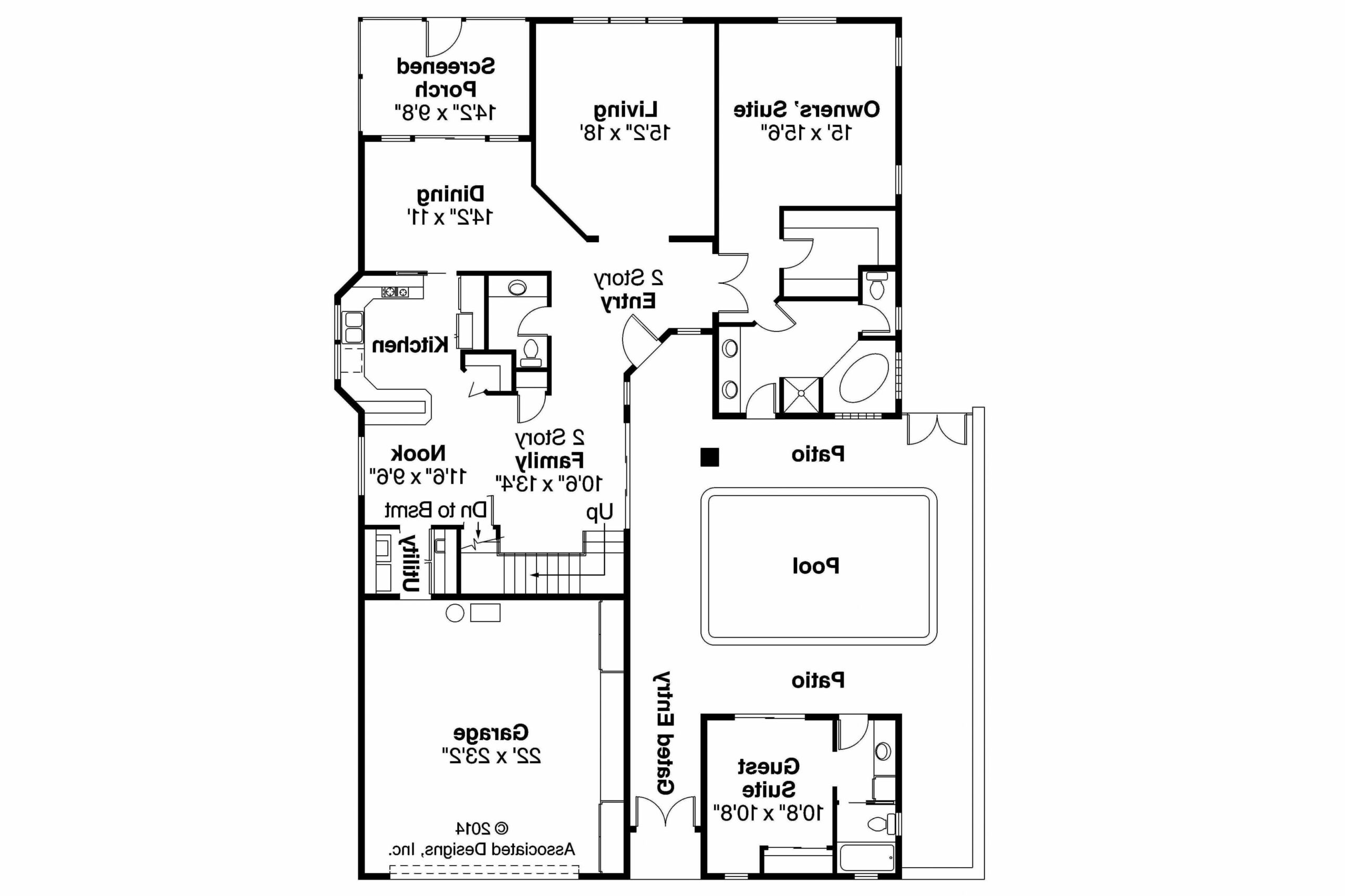 Level Simple Mediterranean House Plans Inspirational With Open ..