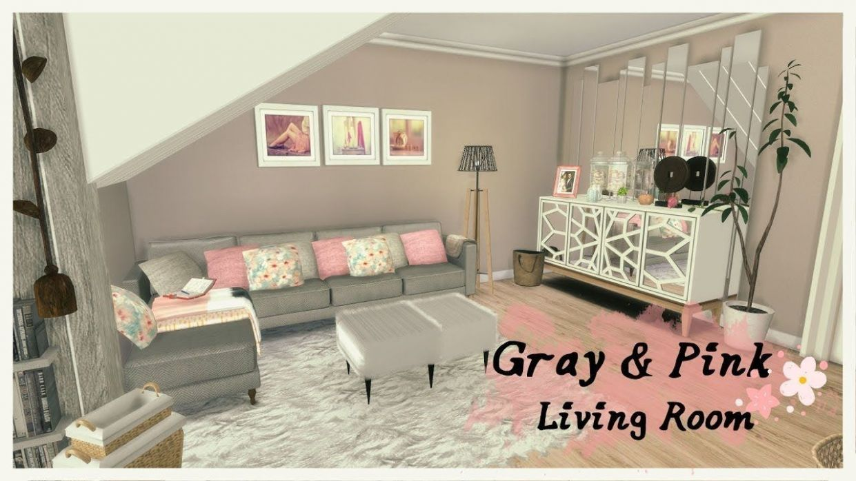 living room ideas grey pink | Living room sims 10, Sims 10 cc ..