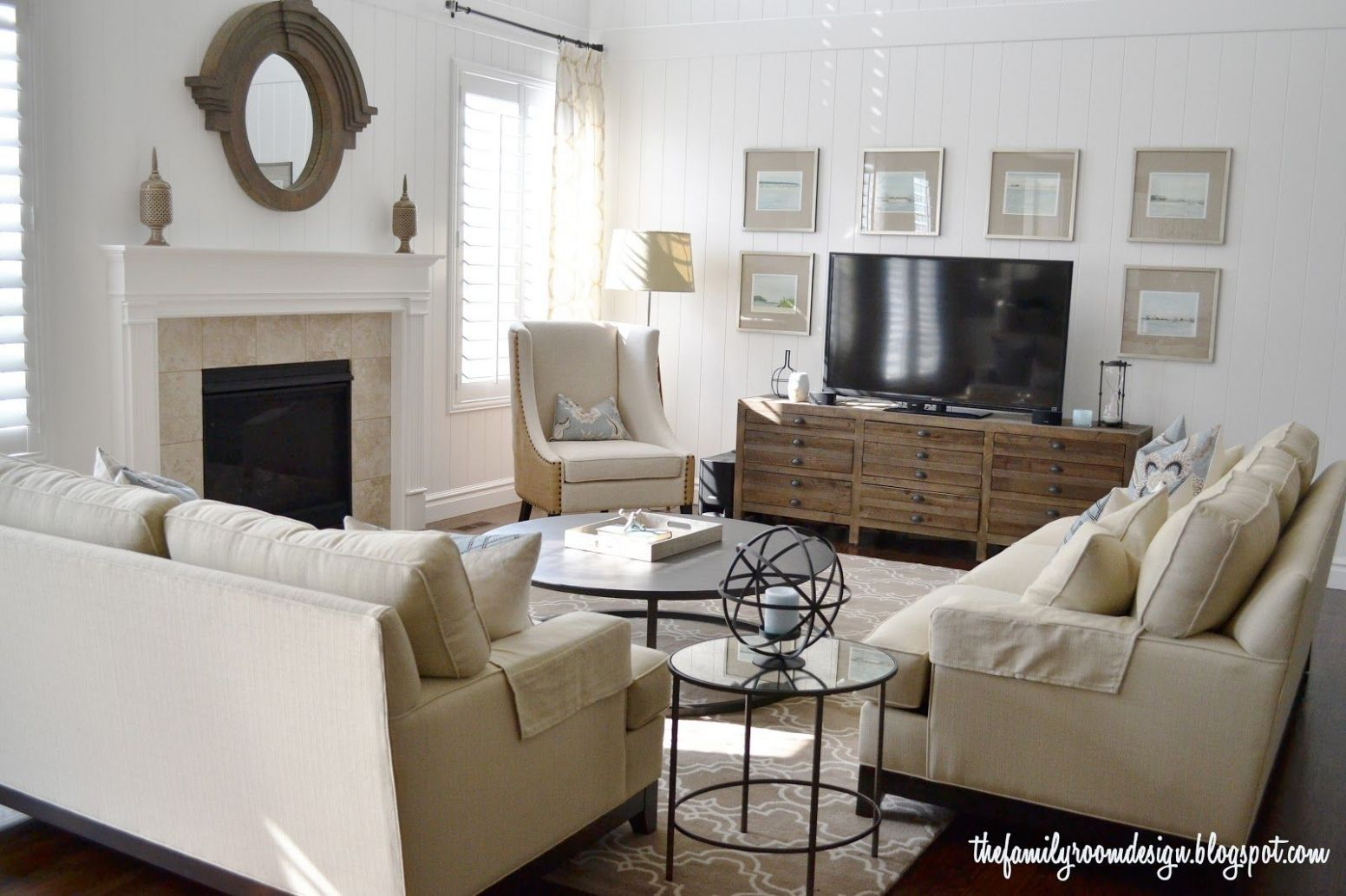 Local Client Project: A Neutral Family Room | Livingroom layout ...