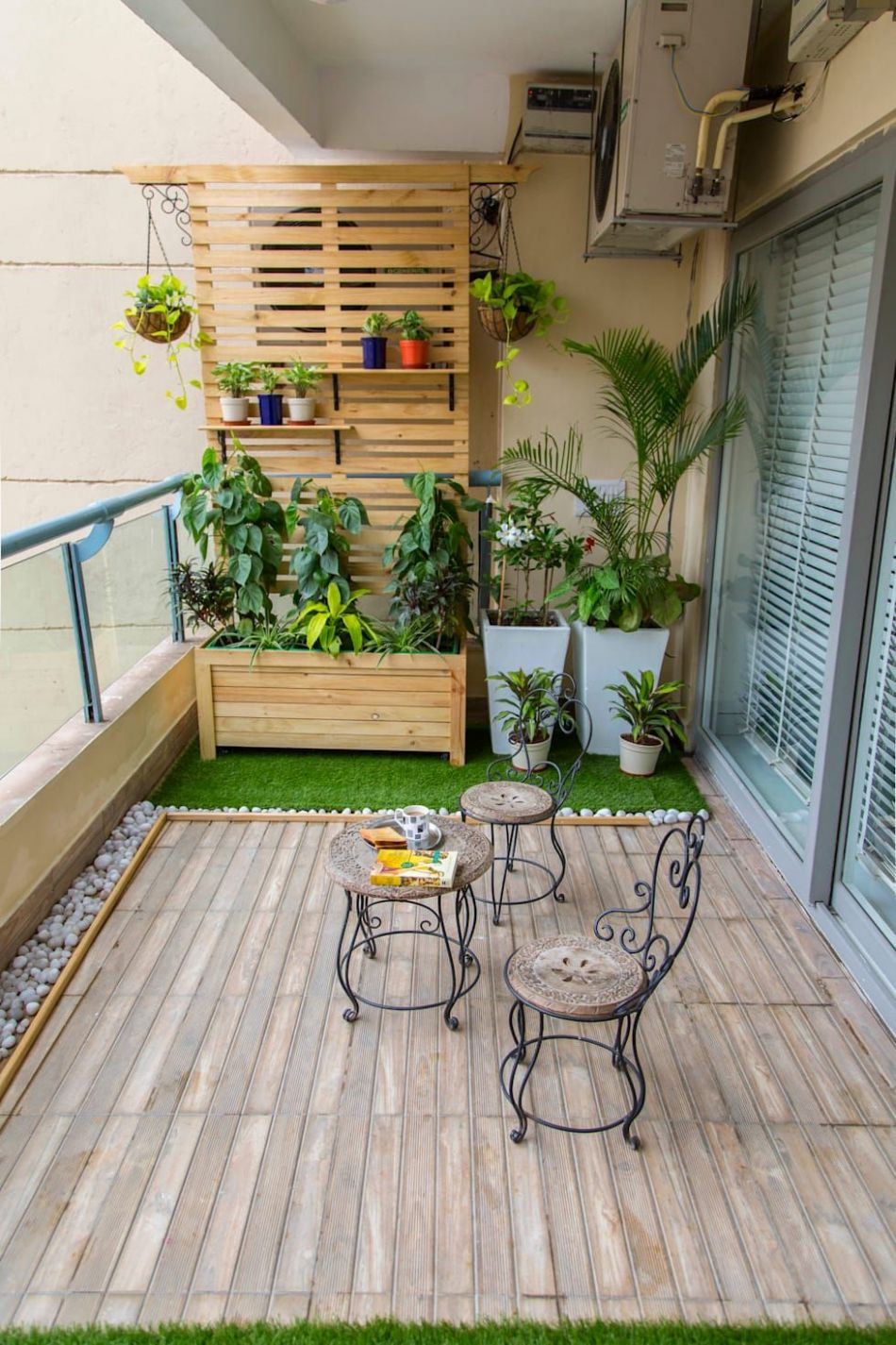Long Balcony makeover by Studio Earthbox | Balcony decor, Balcony ..