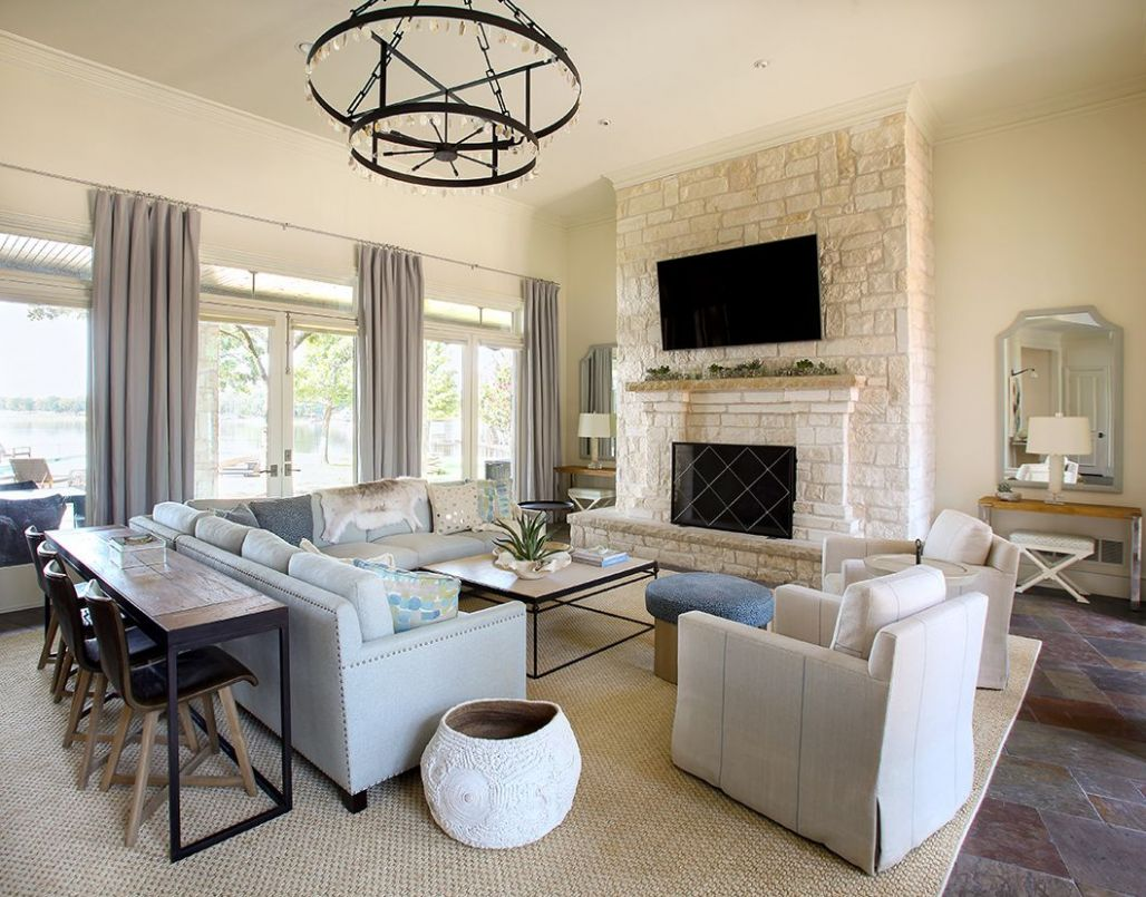 Love this sectional in this living room | Livingroom layout ...