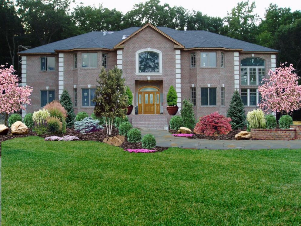 Low Maintenance Front Yard Landscaping | New Jersey Landscaping ...