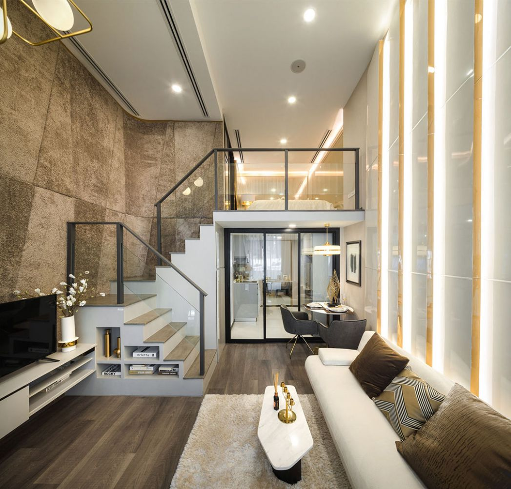 Luxurious Compact Modern Condo Apartment with Double Height ...