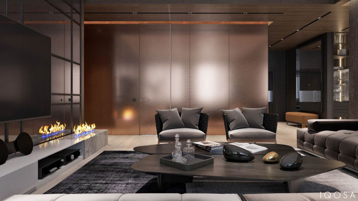 Luxury Apartment Interior Design Using Copper: 8 Gorgeous Examples - apartment design luxury