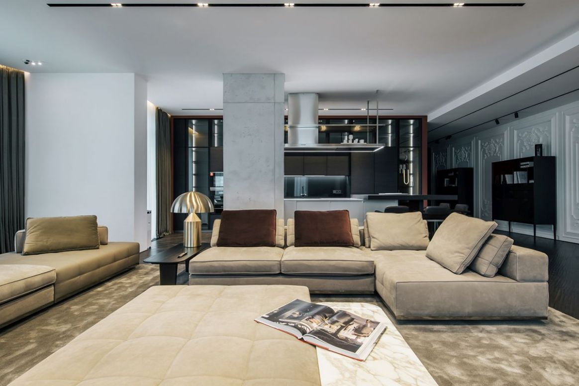 Luxury Apartment With A Sophisticated And Dramatic Interior Design - apartment design luxury