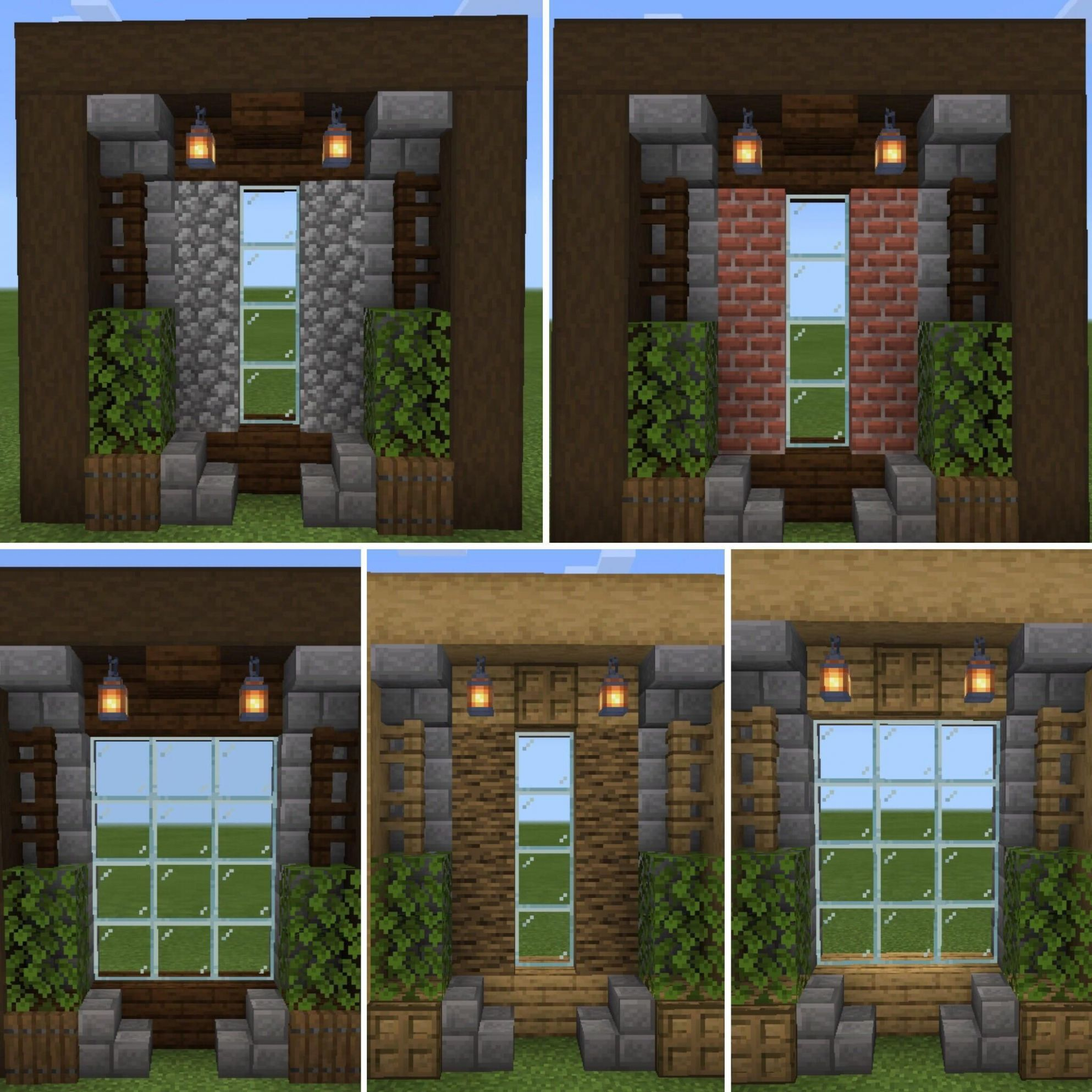 Made some windows for oak and dark oak style. Hope it helps anyone ..