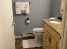 Main bathroom makeover - paint color from lowes called Shark Loop ...