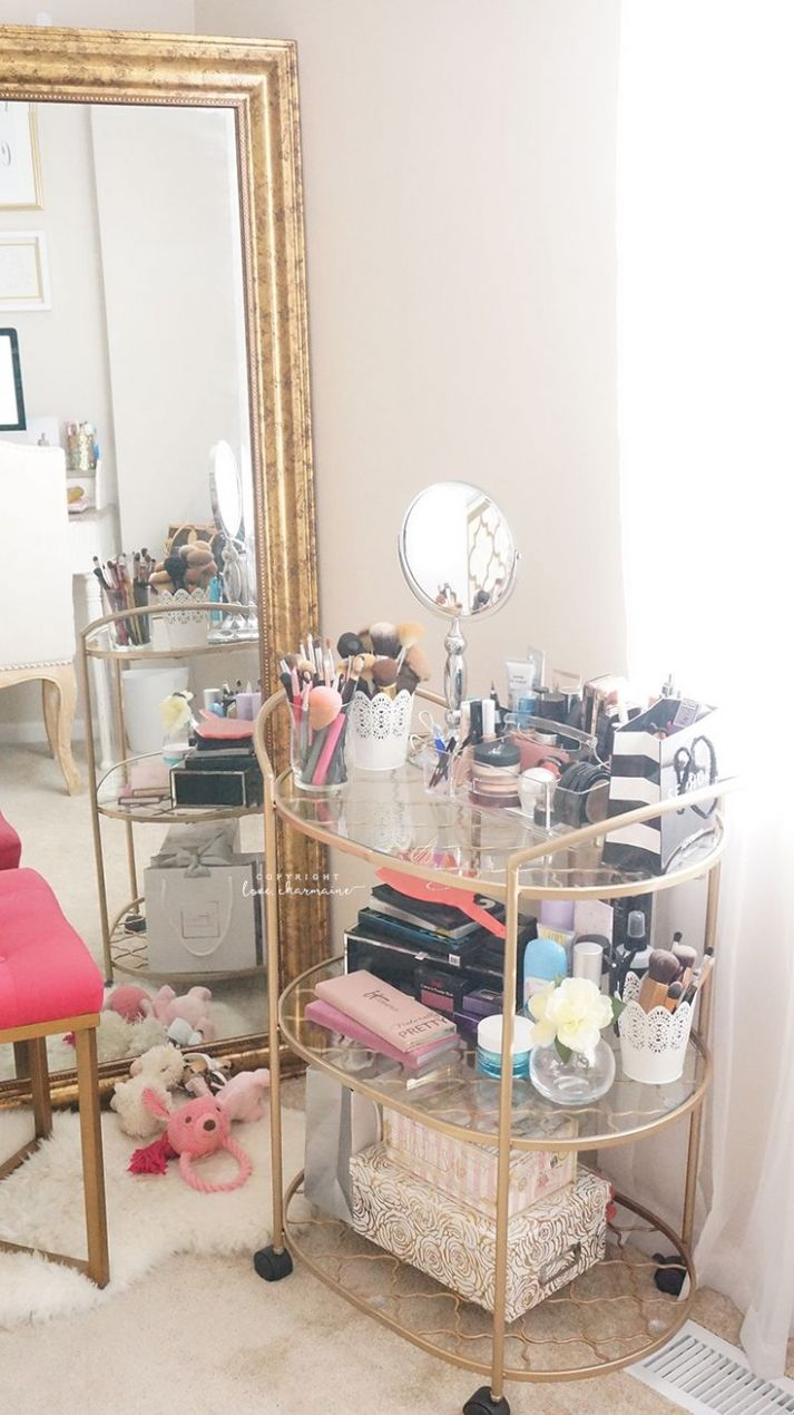 Makeup Ideas 11/ 11 - LOVEE using the bar cart for makeup ..