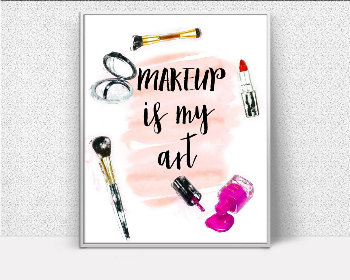 Makeup Prints Wall Art Makeup Digital Download Makeup Fashion Art ..