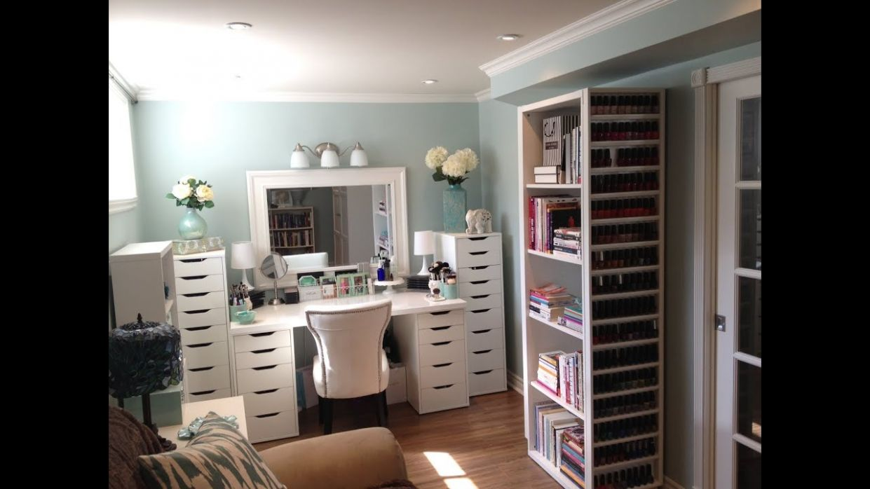 Makeup Room and Makeup Collection, Storage and Organization - July 10 - makeup room setup ideas