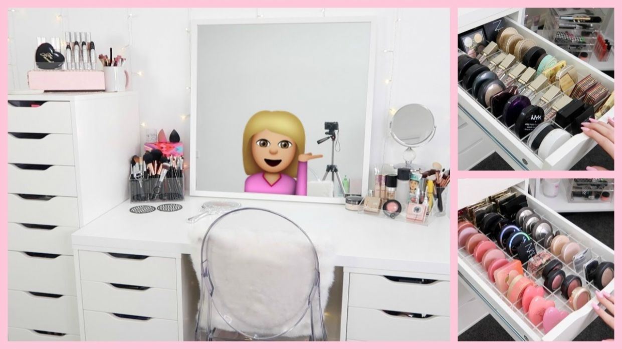 MAKEUP STORAGE & BEAUTY ROOM ORGANIZATION - makeup room organization