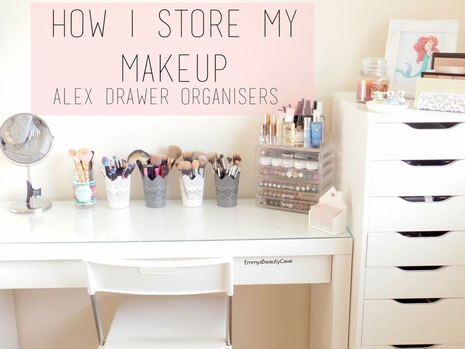Makeup Storage Ikea Alex Drawers and Malm Dressing Table (With ...