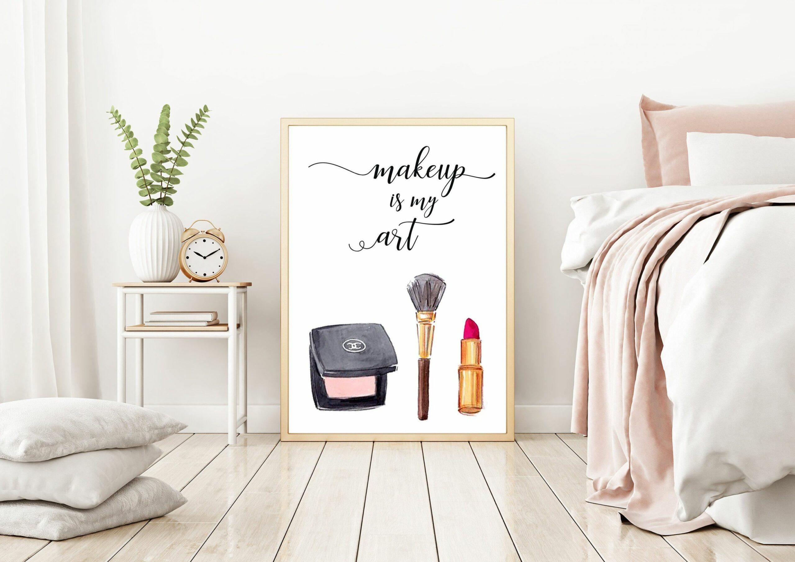 Makeup Vanity, Salon Decor, Makeup Room Print | Bedroom prints ...