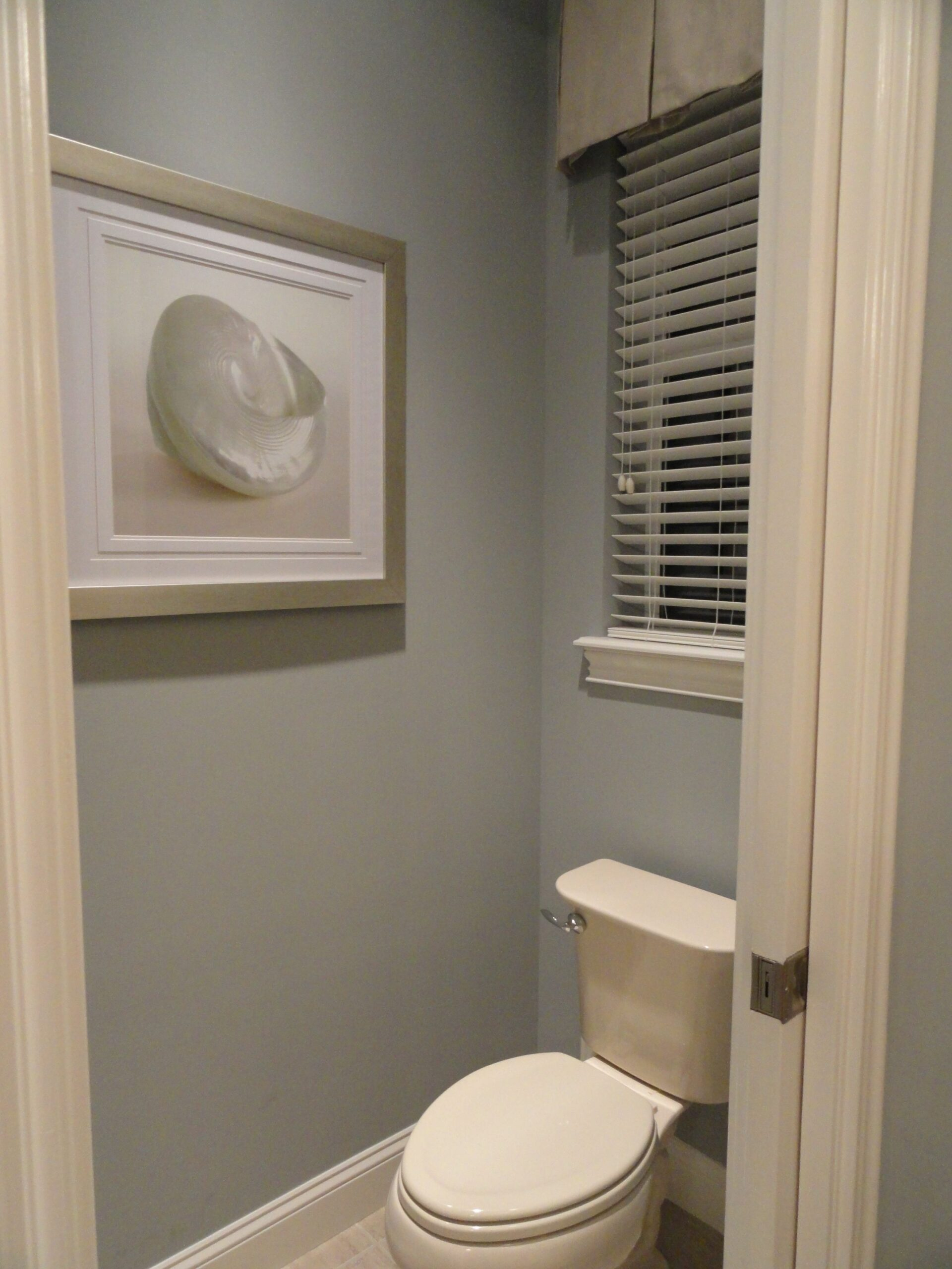 Master Water Closet. I need to put a small valance over the tiny ..