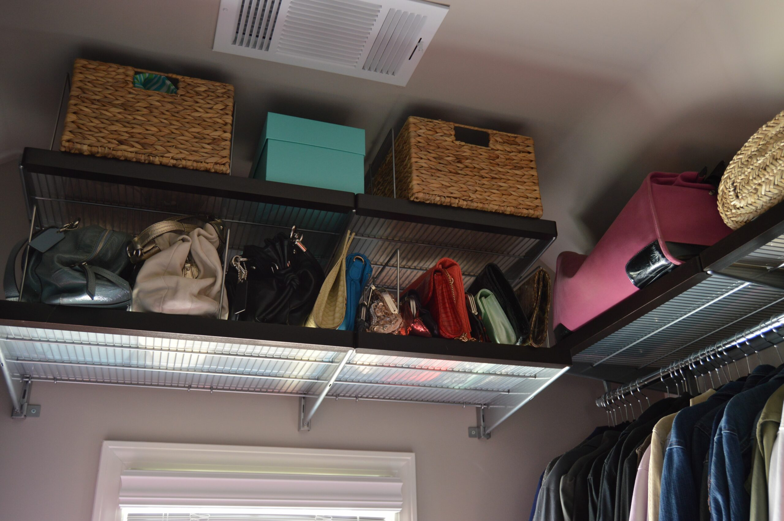 Maximizing Space in a Closet with Vaulted Ceilings | Kelley Nan - vaulted closet ideas