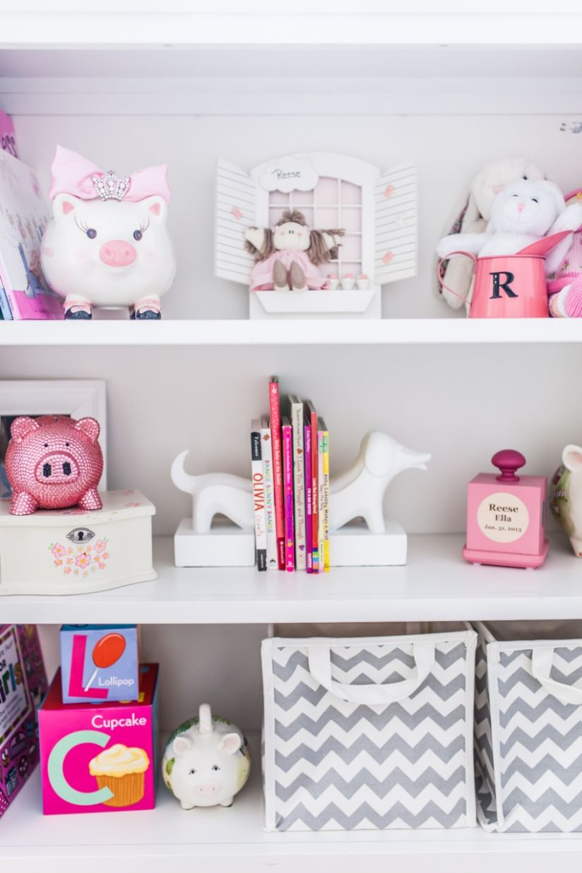 Merchandising your Baby Girl's Nursery Shelves - Fashionable Hostess