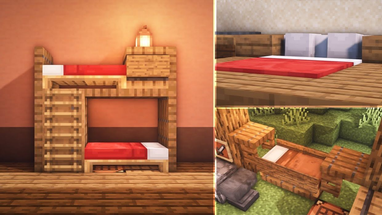 Minecraft: 12 Bed Build Hacks and Ideas - bedroom ideas minecraft