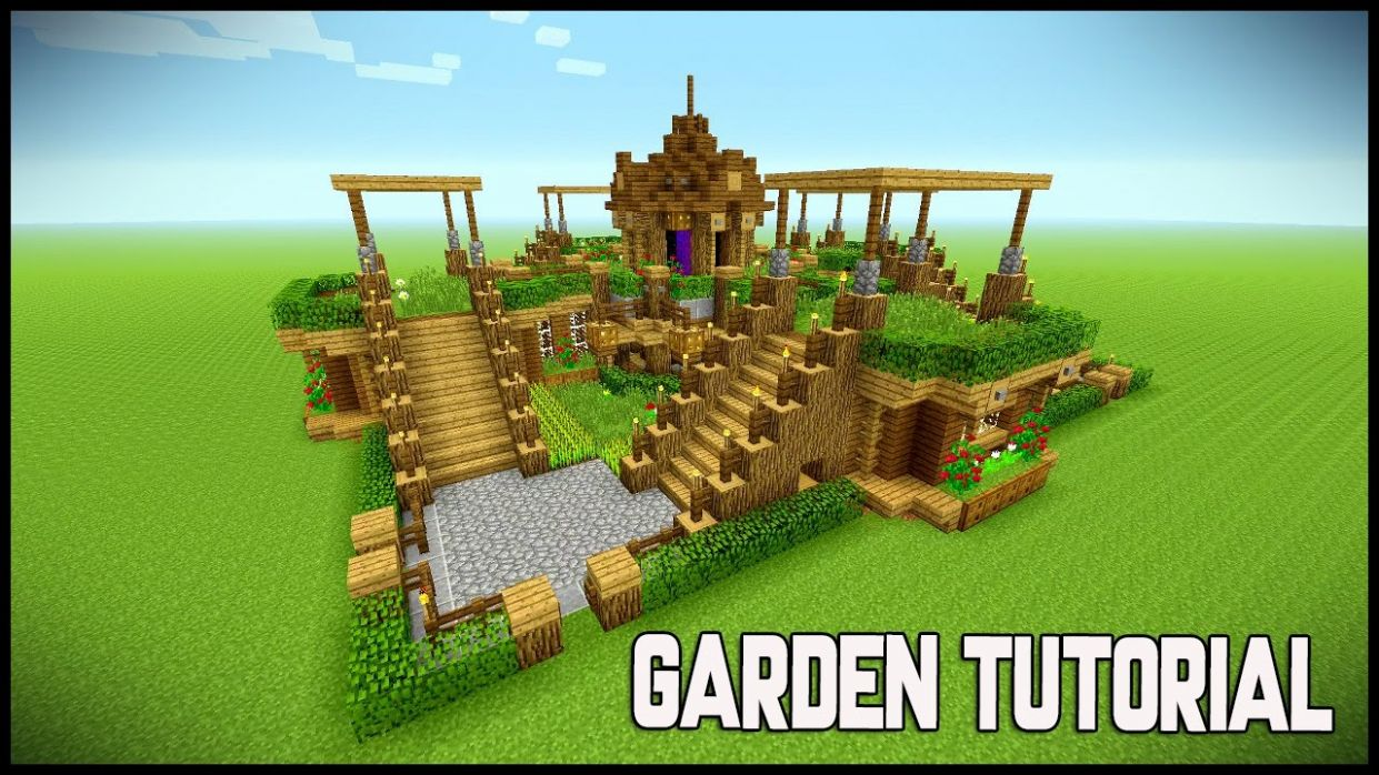 MINECRAFT BEAUTIFUL GARDEN!!! Garden Decoration Ideas! Underground survival  base - Tutorial