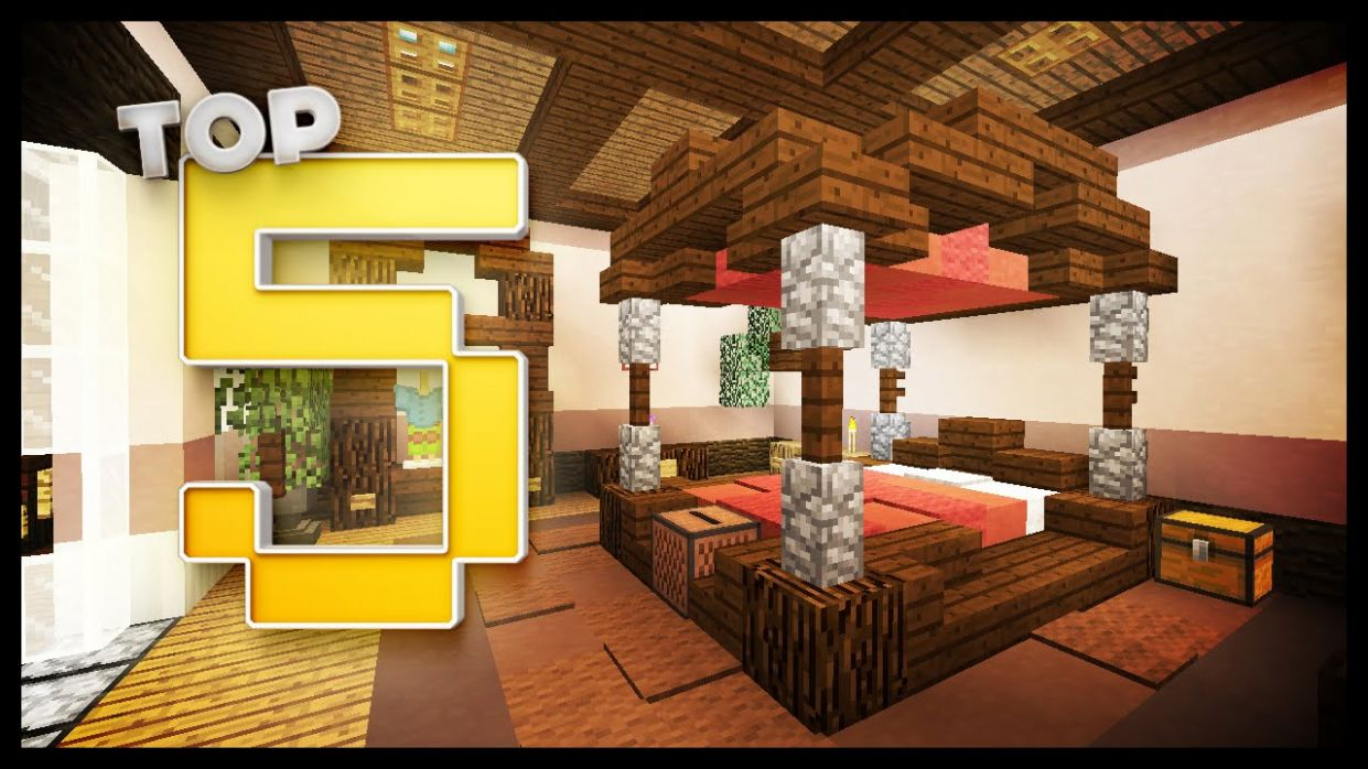 Minecraft - Bedroom Designs & Ideas - bedroom ideas minecraft