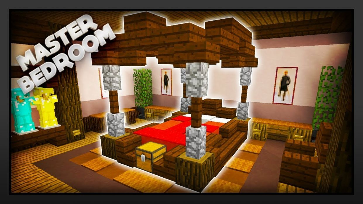 Minecraft - How To Make A Master Bedroom - bedroom ideas minecraft