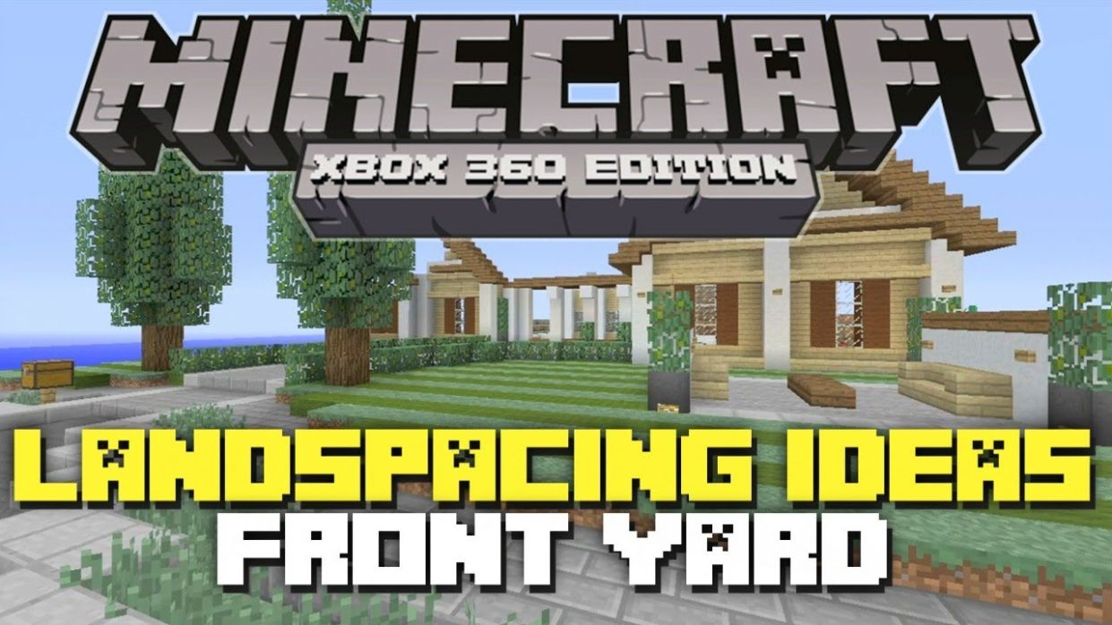 Minecraft Xbox 12: Landscaping Ideas & Tutorial! (Front Yard)