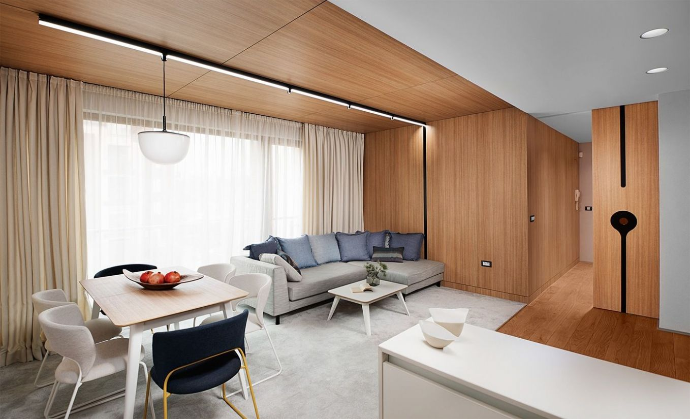 Minimalist apartment design With Simple Wooden Interior (With ...
