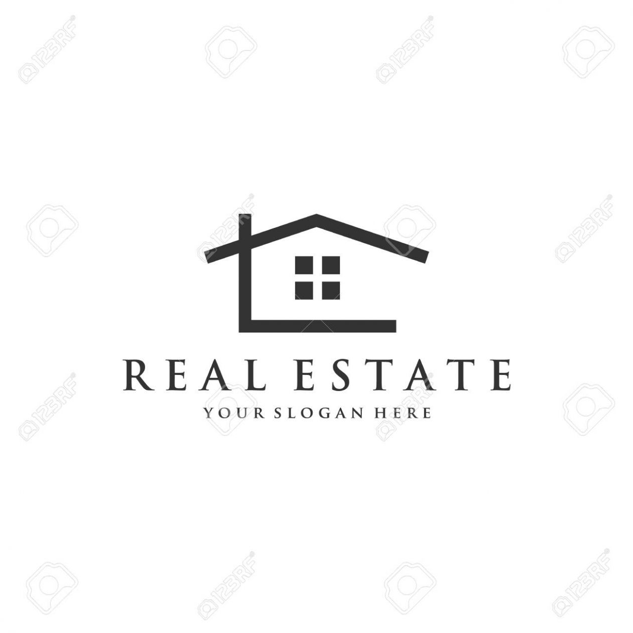 minimalist house logo inspirations for real estate company - house logo inspiration