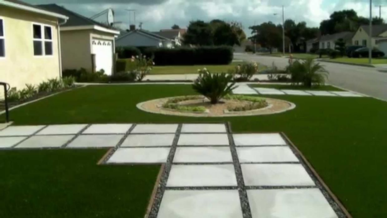 Miraculous Backyard Ideas Concrete And Grass (With images ...