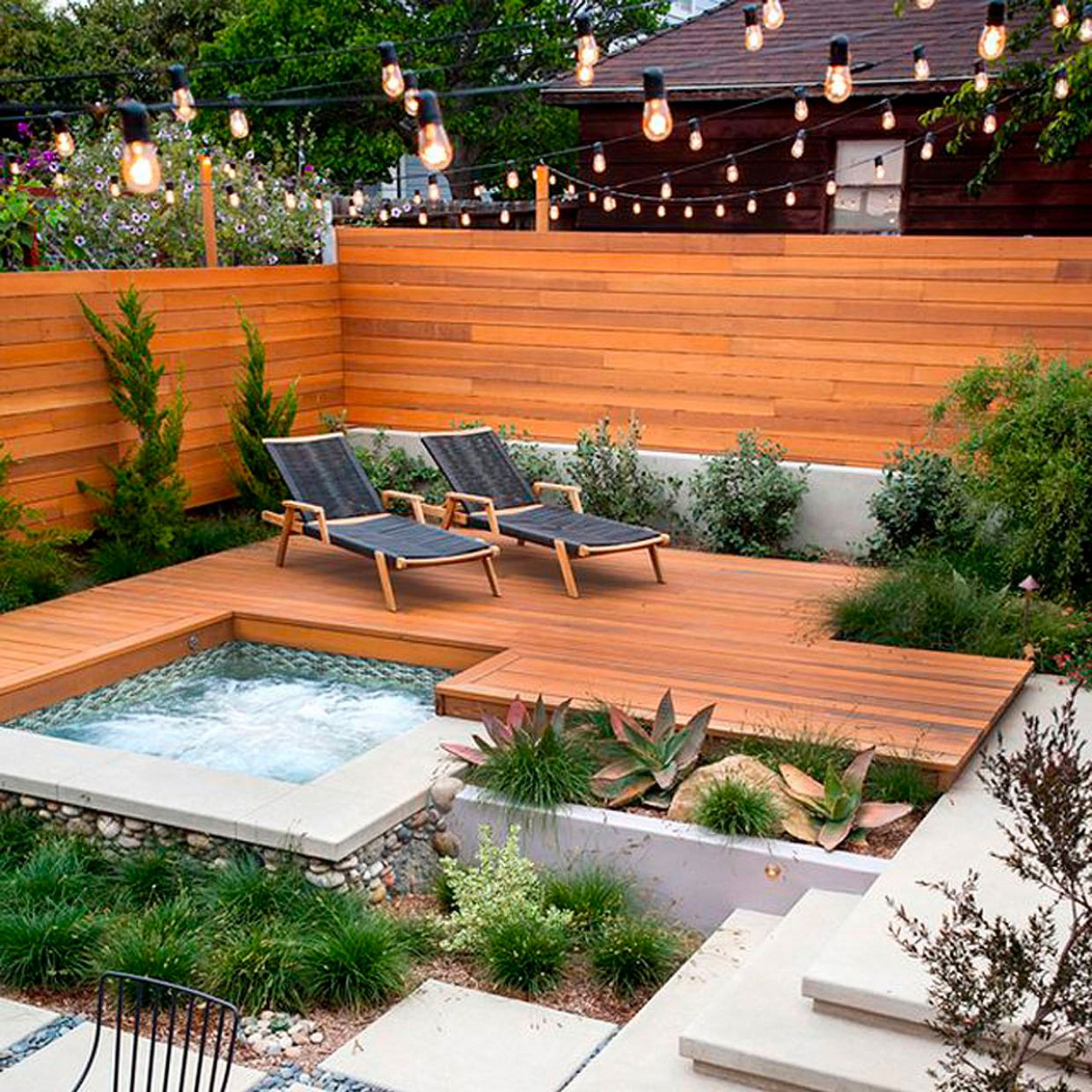 Modern Backyard Ideas with Swimming Pool, Jacuzzi or Hot Tub ...