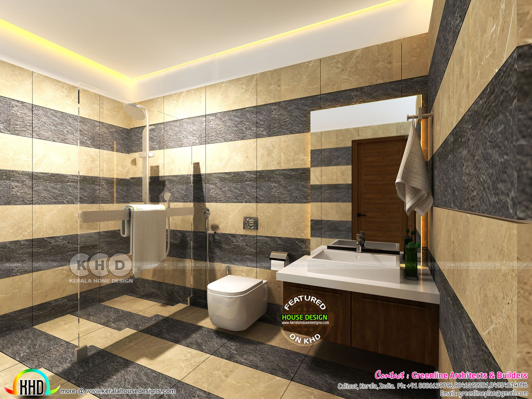 Modern bathroom interiors in Kerala - Kerala home design and floor ..