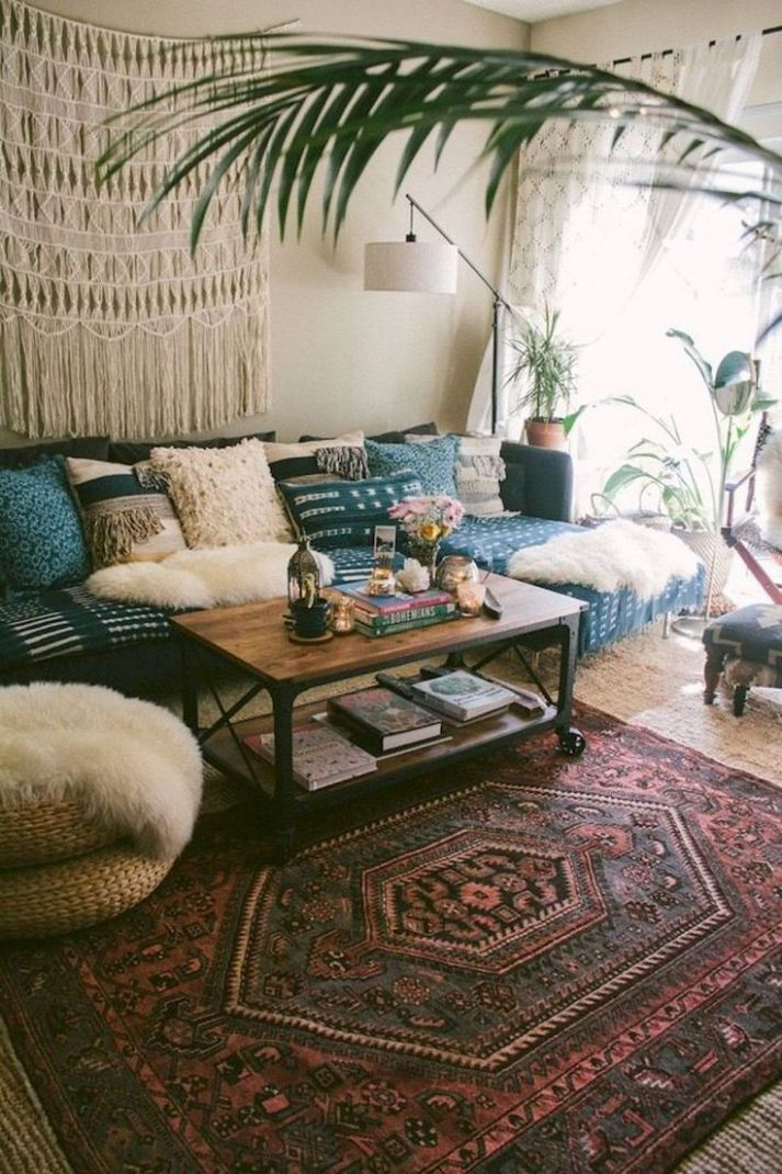 Modern bohemian living room decor ideas (9 (With images ..