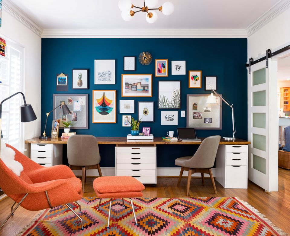 Modern Eclectic Office - Unique Eclectic Home Office Design by ..