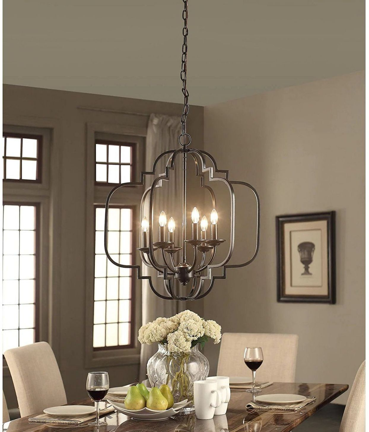 Modern Farmhouse Chandelier Suitable For Dining Rooms And ...