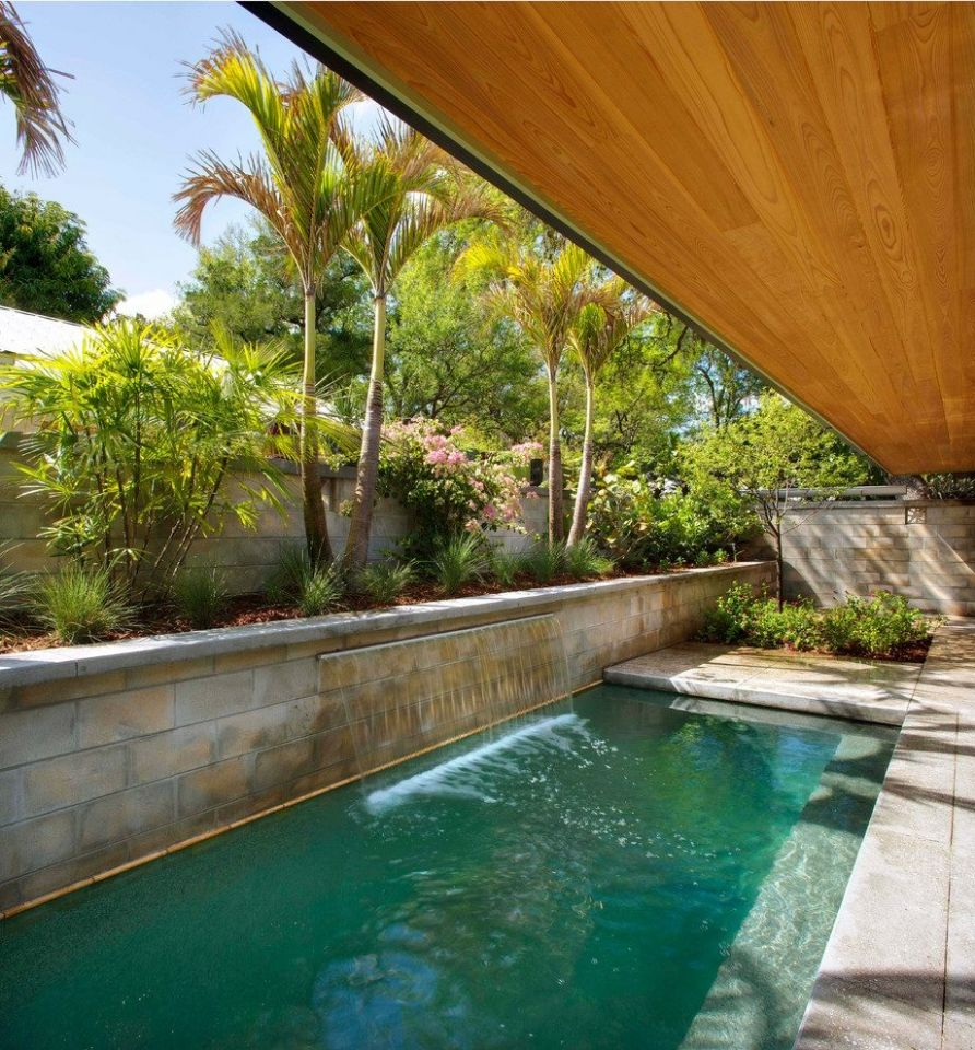 Modern Plants For Landscaping Australia Pool Midcentury With Mid ..