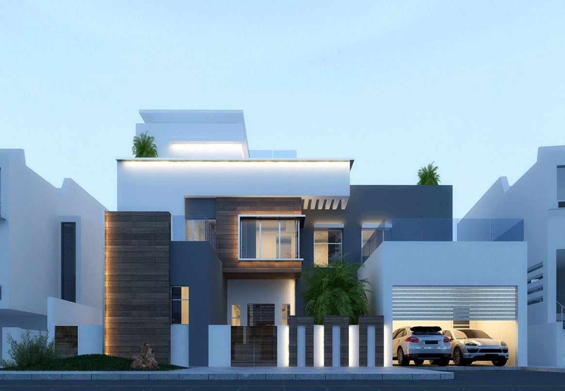 Modern villa in dubai on Behance | House architecture design ..