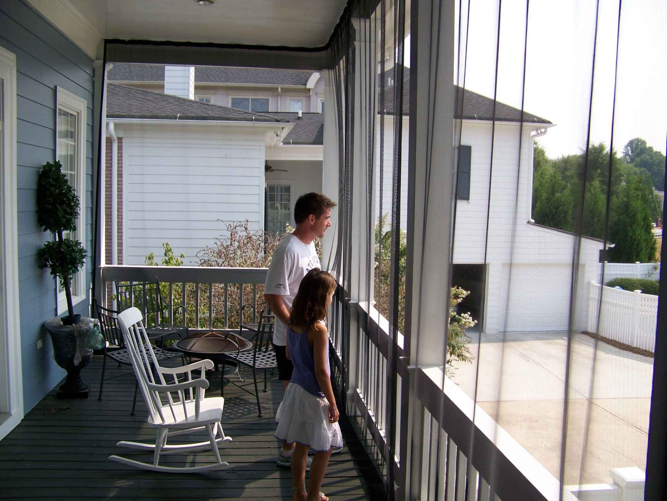 Mosquito Netting Mesh curtains for the balcony - WANT! (With ...