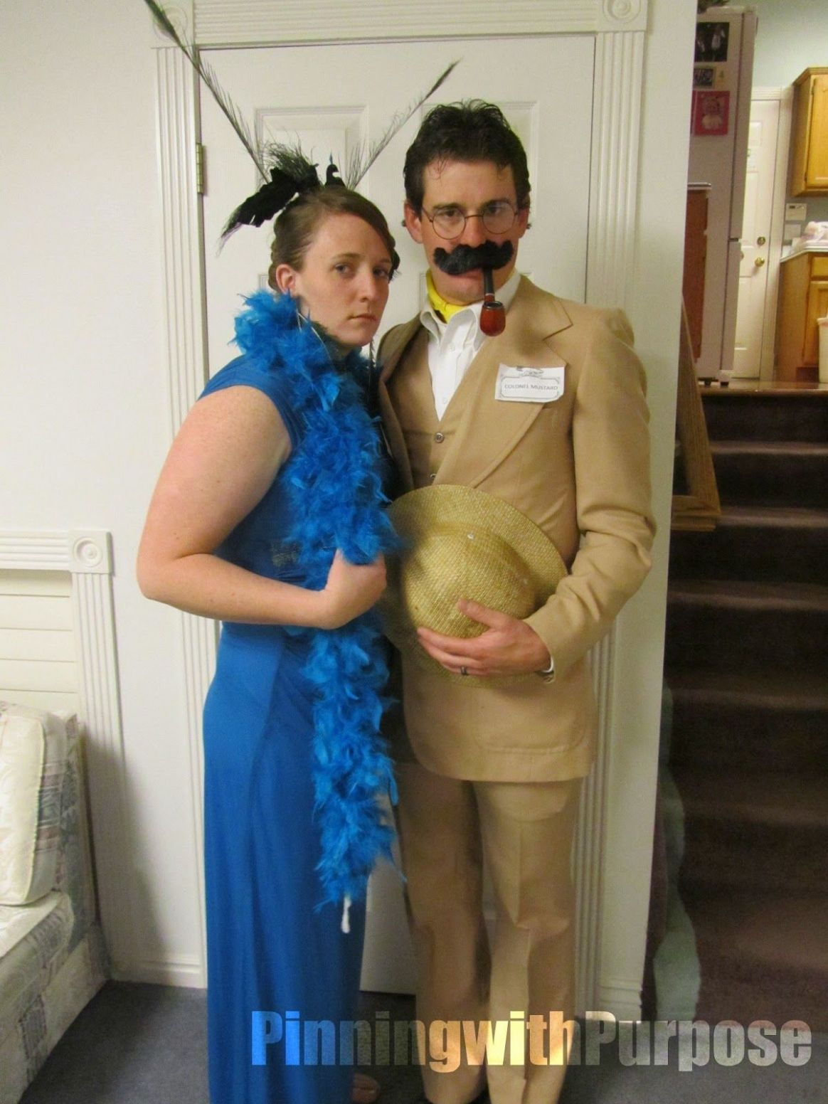 mrs peacock & coronel mustard. MUSTACHE costume - Google Search ...
