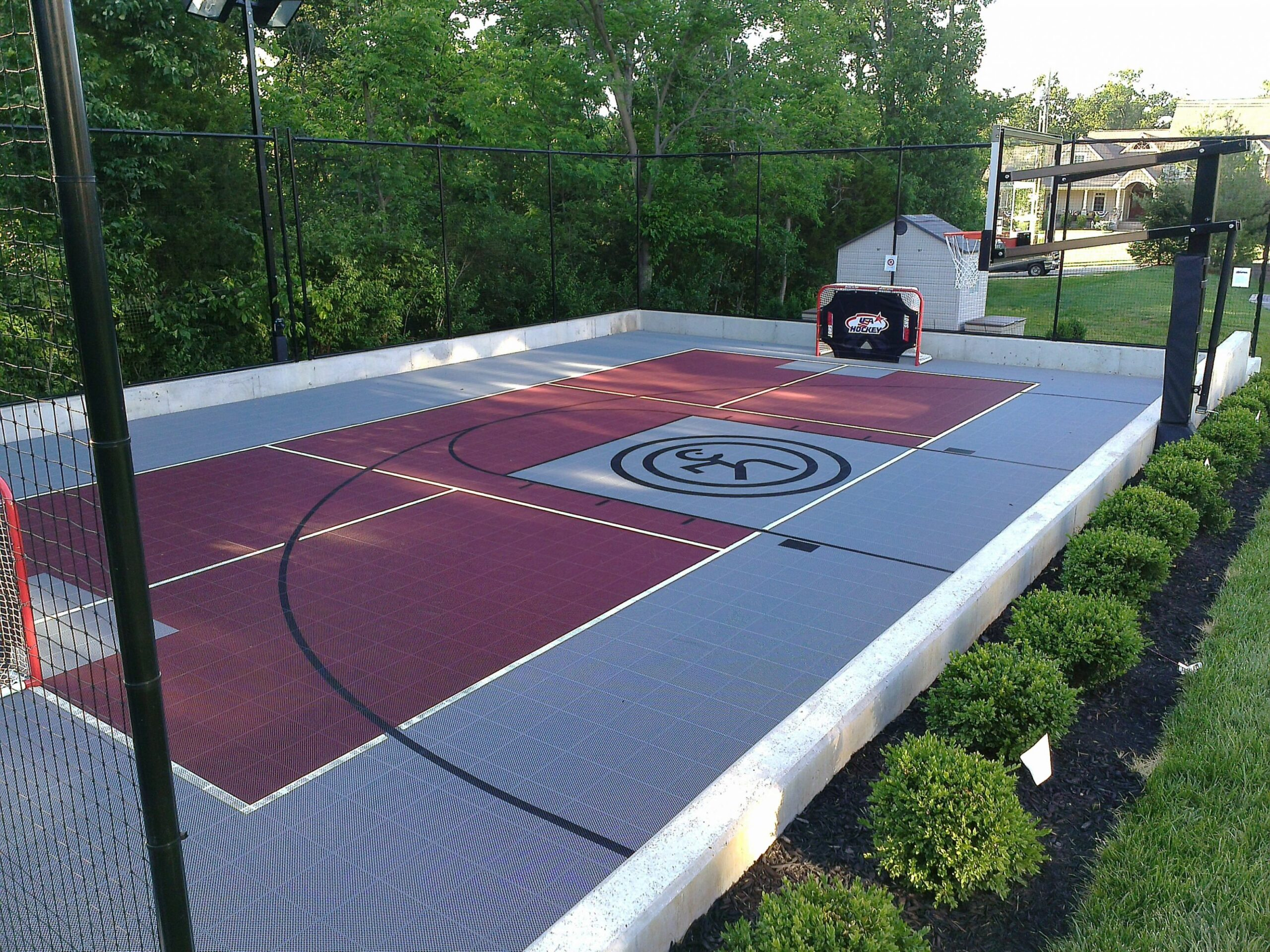 Multi-Sport Game Court (With images) | Backyard court, Basketball ...