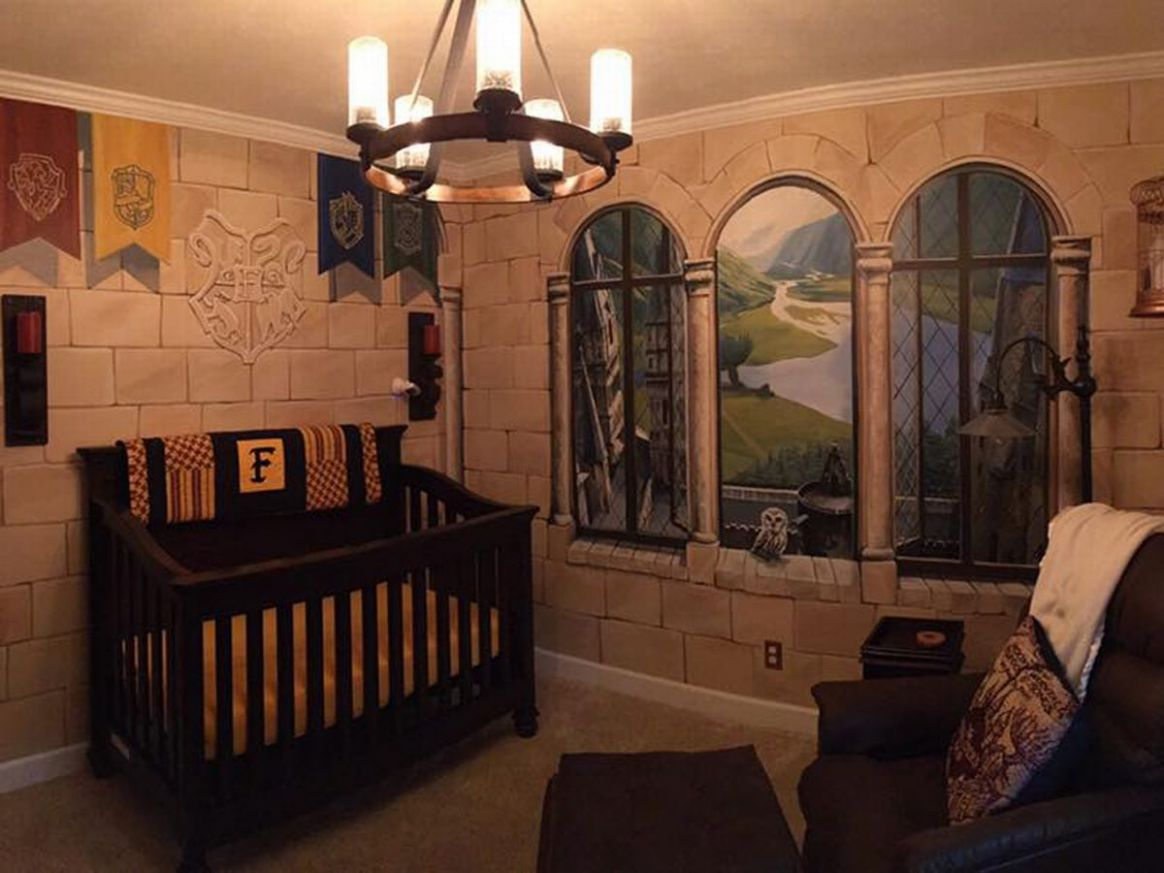 Mum creates Harry Potter nursery for little wizard and it's just ...