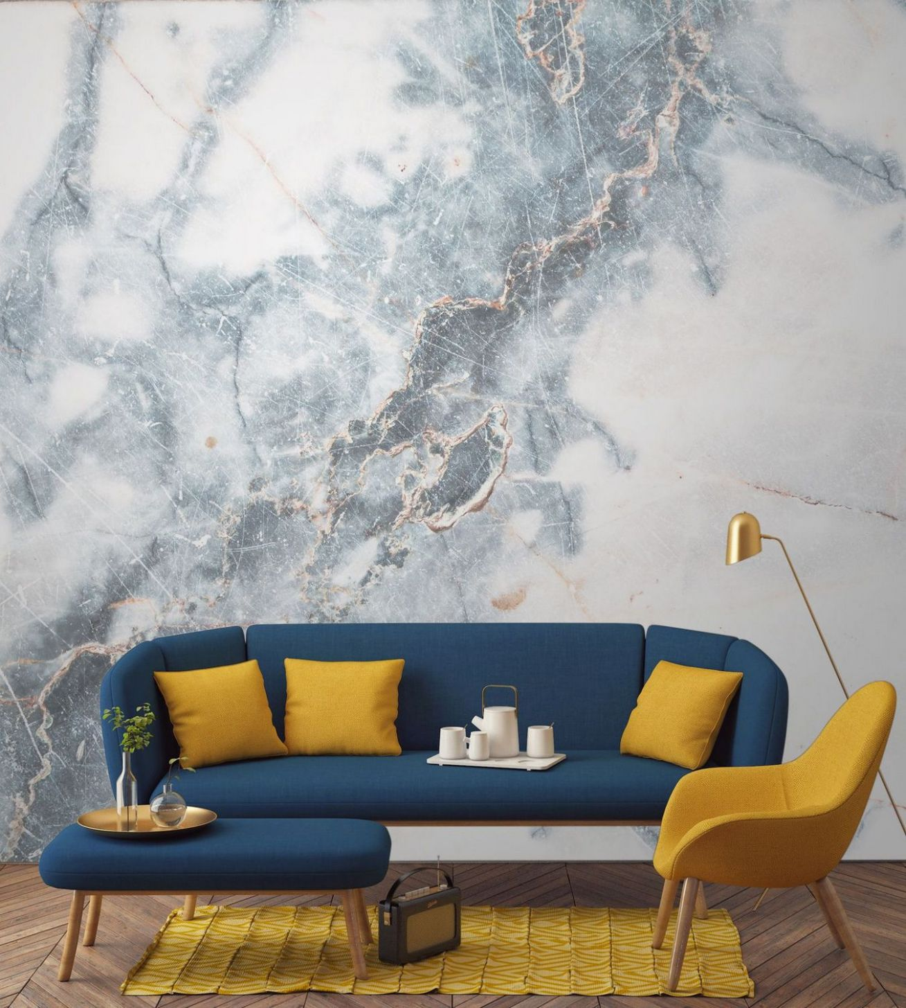 Mustard and blue living room ideas 8 | Inspira Spaces