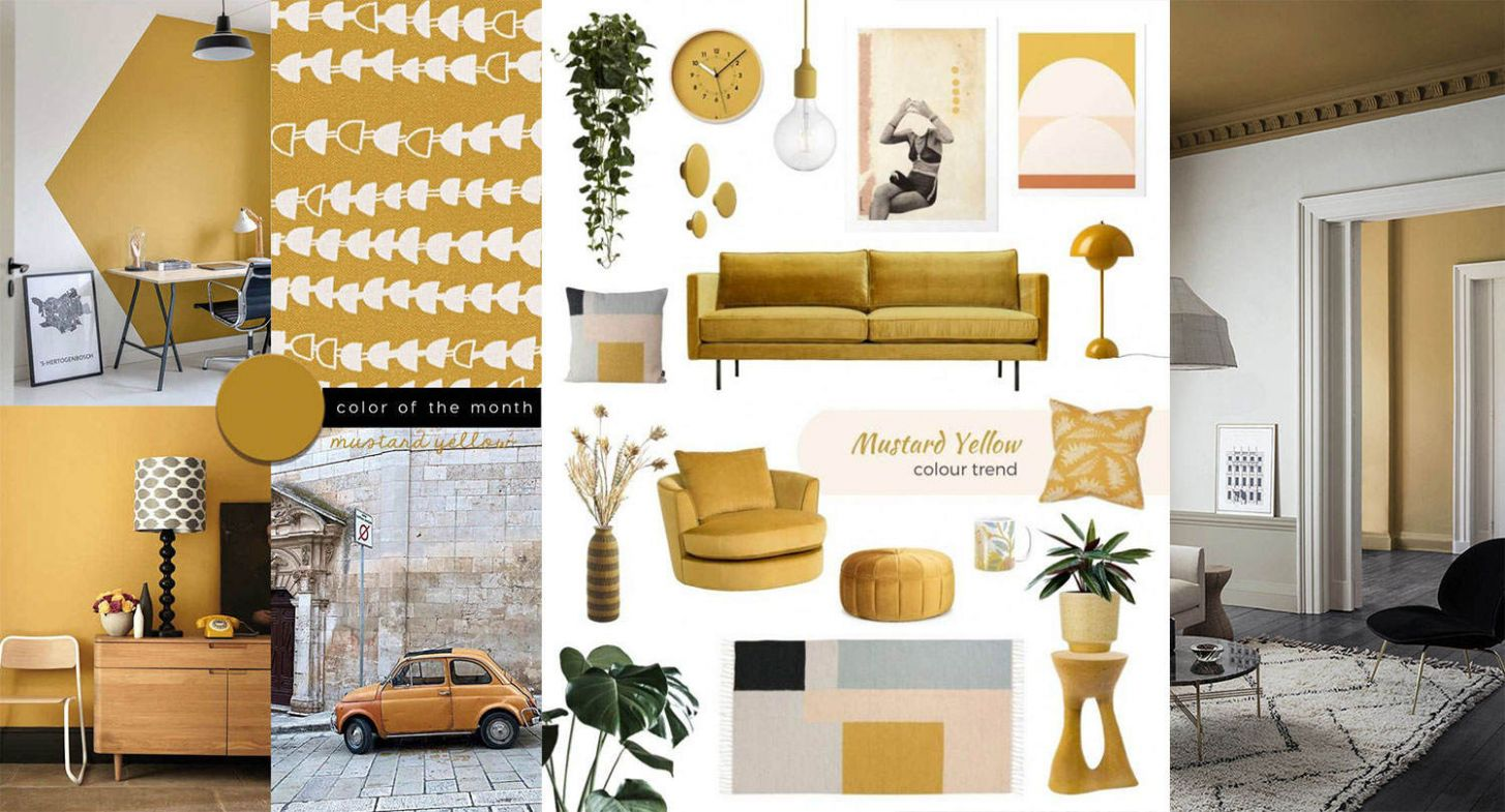 Mustard Yellow Decor items, the best ideas to shop online now