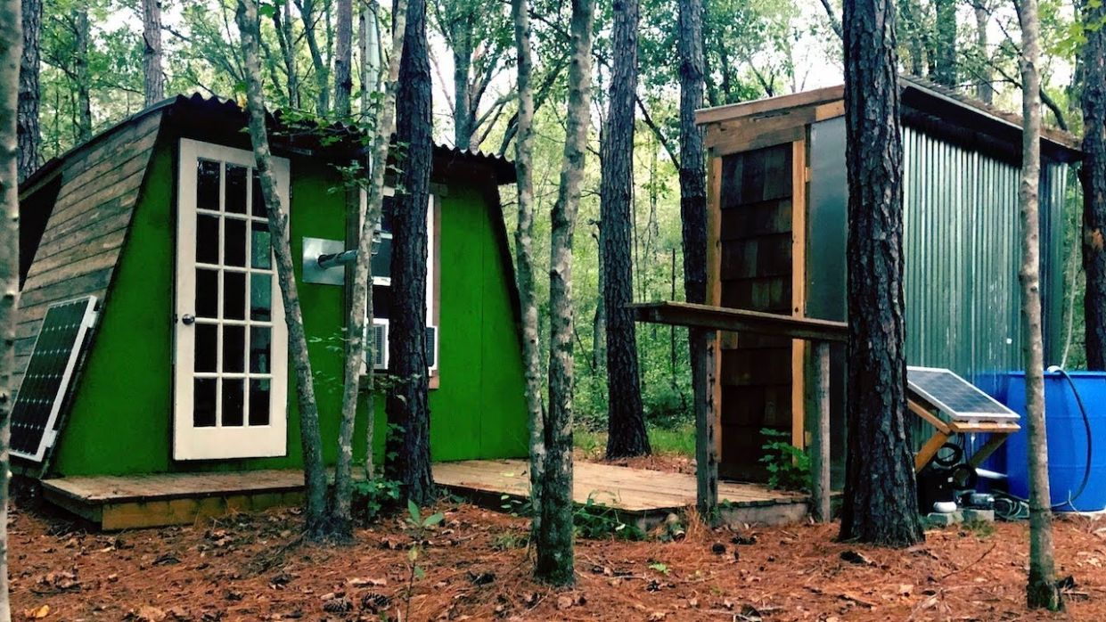 My $10,10 Tiny House In The Woods