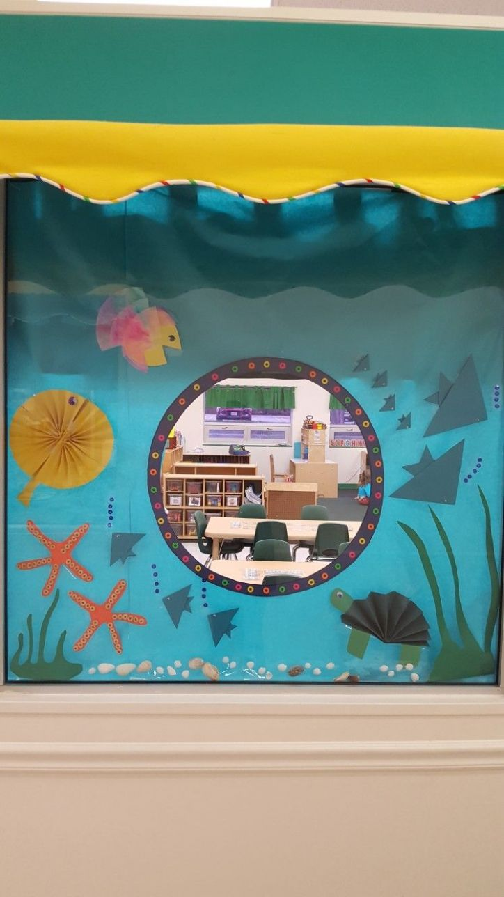 My classroom window display for under the sea/Summer (With images ..